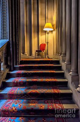 Vintage Chair Digital Art - Mansion Stairway by Adrian Evans