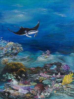 Manta Reef Print by John Garland  Tyson
