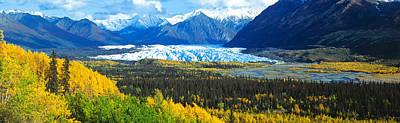 Mountain Photograph - Mantanuska Glacier Ak Usa by Panoramic Images