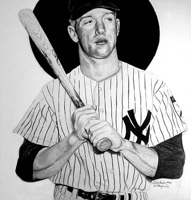 Mickey Mantle Drawing - Mantle The Man by Londie Benson