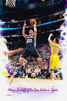 Manu Ginobili Of The San Antonio Spurs Original by Don Kuing
