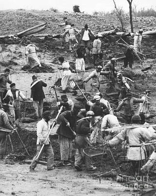 Irrigation Photograph - Manual Labor In China 1957 by The Phillip Harrington Collection