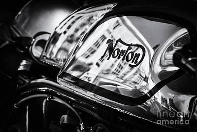 60s Photograph - Manx Norton Monochrome by Tim Gainey