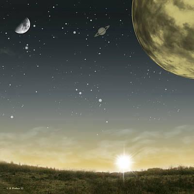 Many Moons Ago Print by Brian Wallace