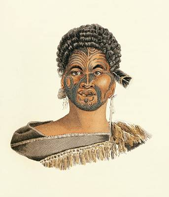 Maori Man Print by King's College London