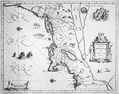 Map New England, 1635 Print by Granger