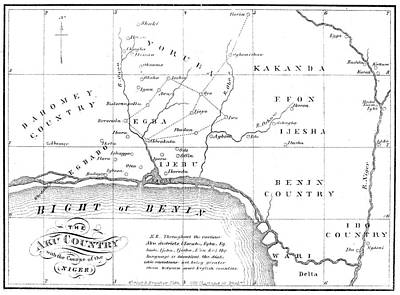 Yoruba Painting - Map Of Africa, 1861 by Granger