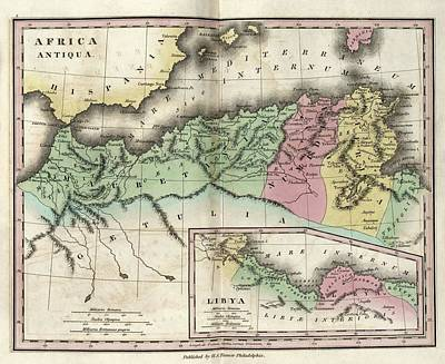 Map Of Ancient North Africa Print by Library Of Congress, Geography And Map Division
