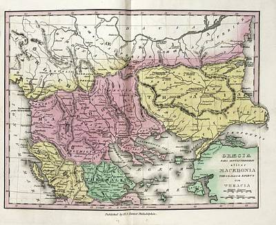 Map Of Ancient North Greece Print by Library Of Congress, Geography And Map Division