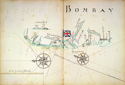 East India Photograph - Map Of Bombay Coastline by British Library
