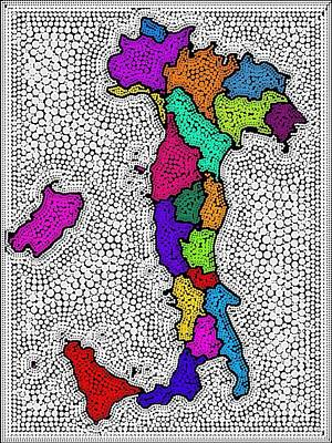 Map Of Italy Digital Art - Map Of Italy Decorative by Nikki Keep
