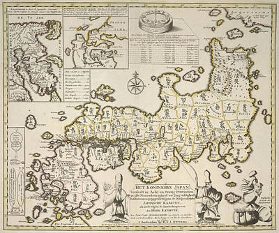 Het Photograph - Map Of Japan by British Library