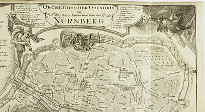 Alt Photograph - Map Of Nurnberg by British Library