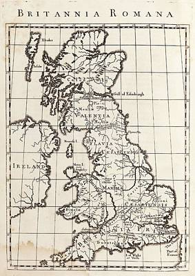 Map Of Roman Britain Print by Middle Temple Library