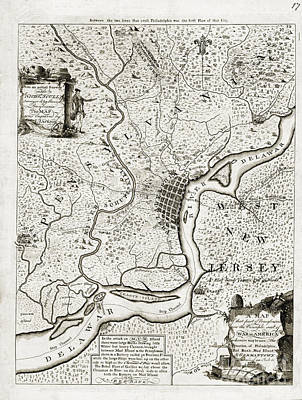 Philadelphia History Drawing - Map Of That Part Of Pensylvania - 1777 by Pablo Romero