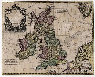 Map Of The British Isles Print by Library Of Congress, Geography And Map Division
