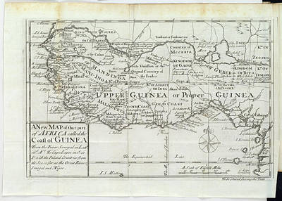 Africa-north Photograph - Map Of Upper Guinea by British Library