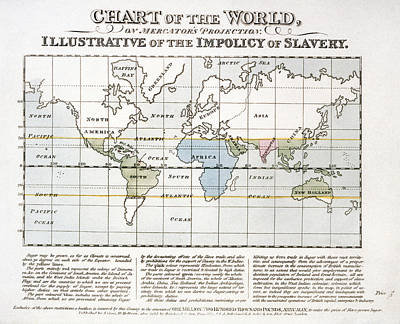 Map Sugar Trade Print by Granger