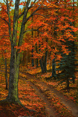 Maple Forest Print by Frank Wilson