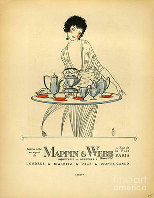 Mappin And Webb  1920s France Cc Tea Print by The Advertising Archives