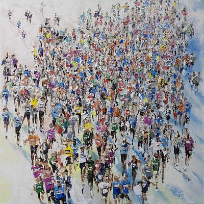 Marathon By Neil Mcbride Print by Neil McBride