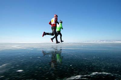 Siberia Photograph - Marathon Runners by Louise Murray