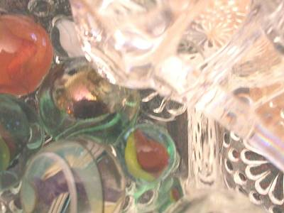 Glass Art - Marble Falls by Teri  Haley