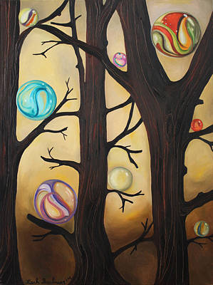 Sphere Painting - Marble Forest by Leah Saulnier The Painting Maniac