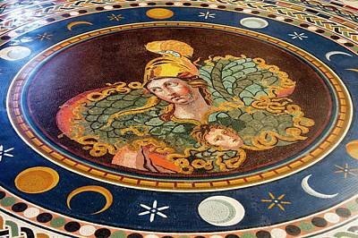 Marble Mosaic Photograph - Marble Mosaic In Vatican Museum. by Mark Williamson