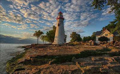 Marblehead Lighthouse Print by Daniel Behm