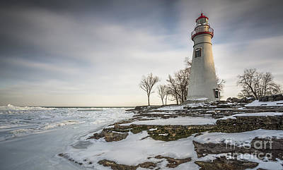 Marblehead Lighthouse Winter Print by James Dean