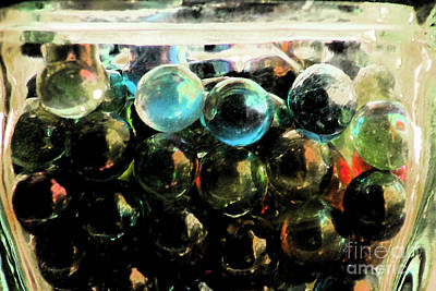 Marbles Photograph - Marbles In Aspic by Alison Gunn