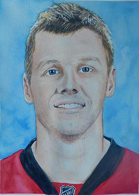 National Hockey League Painting - Marc Methot by Betty-Anne McDonald