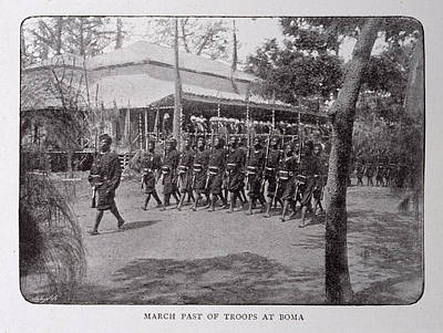 African People Photograph - March Past Of Troops At Boma by British Library