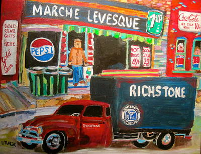 Pepsi Sign Painting - Marche Levesque by Michael Litvack