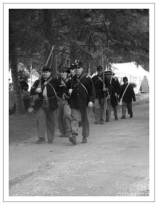 Marching Off To Battle Print by Sara  Raber
