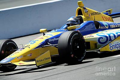 Andretti Photograph - Marco Andretti Pit Lane by Bryan Maransky