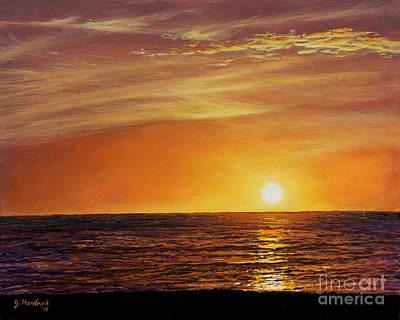 Gulf Of Mexico Painting - Marco Island Sunset by Joe Mandrick