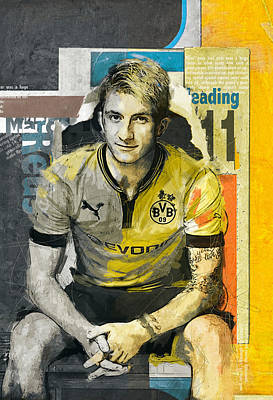 Qatar Painting - Marco Reus - B by Corporate Art Task Force