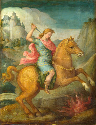 Marcus Painting - Marcus Curtius by Bacchiacca