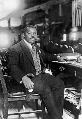 Marcus Garvey At His Desk Print by Underwood Archives