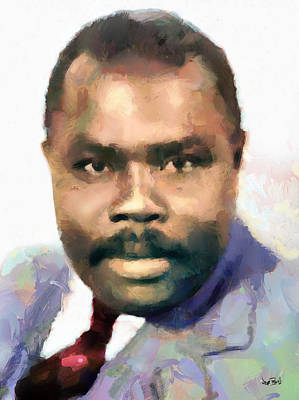 Black History Painting - Marcus Garvey by Wayne Pascall