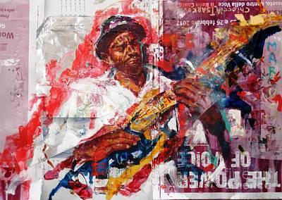 Marcus Painting - Marcus Miller by Massimo Chioccia and Olga Tsarkova