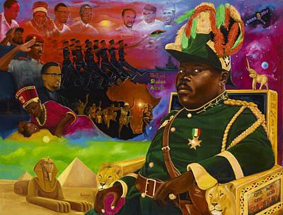 Marcus Painting - Marcus Mosiah Garvey by Kolongi Brathwaite