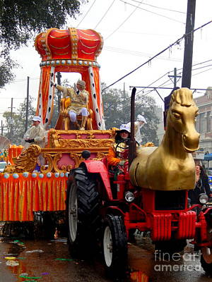 St Charles Avenue Photograph - Mardi Gras 2014 His Majesty Rex The King Of Mardi Gras by Michael Hoard