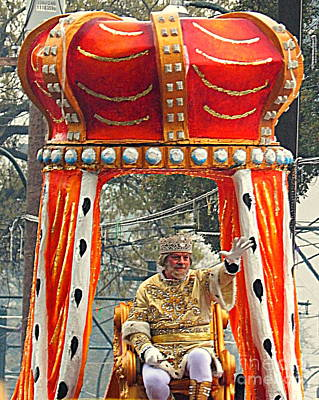 St Charles Avenue Photograph - Mardi Gras 2014 His Majesty The King Of Mardi Gras by Michael Hoard