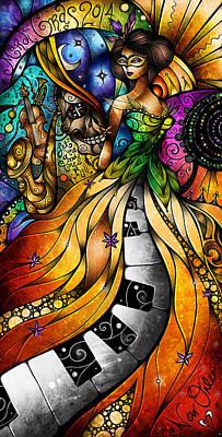 Fleur De Lis Digital Art - Mardi Gras 2014 by Mandie Manzano
