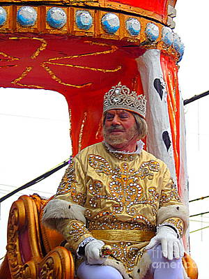 St Charles Avenue Photograph - Mardi Gras 2014 Rex King Of Carnival by Michael Hoard