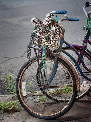 Mardi Gras Bicycle Print by Brenda Bryant