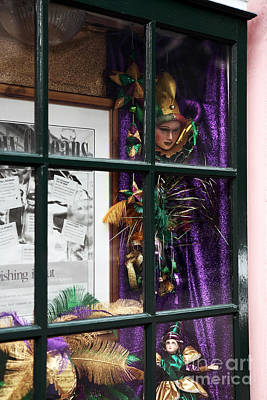Mardi Gras Colors Print by John Rizzuto